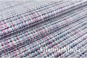 Мебельная Рогожка разноцветная клетка, арт. 60-2201, Турция