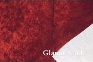 Велюр для мебели винного цвета