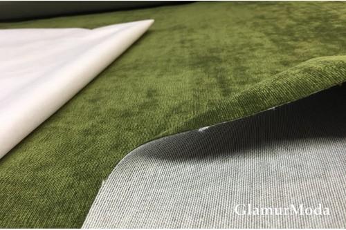 Велюр для мебели цвета хаки