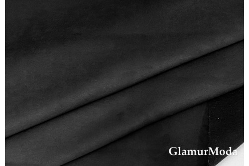 Искусственная мебельная Замша COVER Lux 16 чёрного цвета