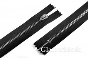Молния металлическая чёрный никель, тип 4, неразъемная, 14 см, Турция