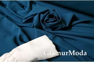 Ткань костюмная Моника темно-бирюзового цвета