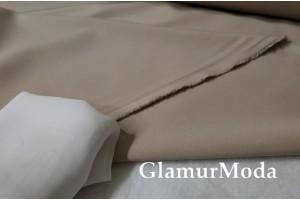 Ткань костюмная Моника темно-бежевого цвета