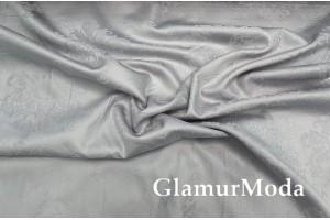 Сатин Жаккард мерсеризованный 240 см, серого цвета