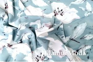 Ниагара (супер софт), цветы на серо-бирюзовом фоне