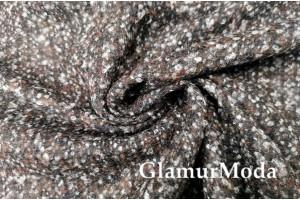 Ткань костюмно-пальтовая с шерстью, Шанель коричневый цвет, Италия