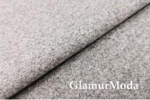 Пальтовая ткань меланж серого цвета