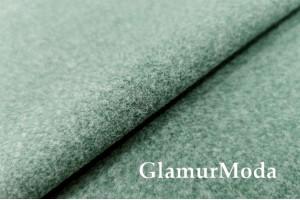 Пальтовая ткань меланж зеленого цвета