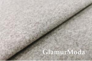 Пальтовая ткань меланж бежевого цвета