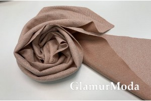 Пальтовая ткань Ёлочка пудрово-персикового цвета