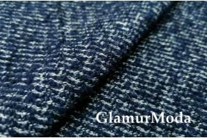 Костюмно-пальтовая шерсть, темно-синий цвет, арт. 7636, Италия