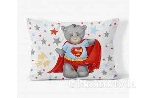 """Панель для пошива бортиков, подушек 40х60 см, """"Мишка супергерой"""" коллекция Premium"""