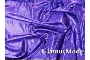 Ткань парча стрейч сине-фиолетового цвета