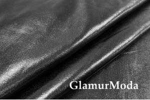 Ткань парча стрейч черного цвета