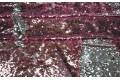 Двусторонние пайетки чешуя, цвет розовый-серебро