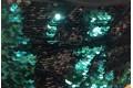 Двусторонние пайетки чешуя, цвет зеленый изумруд-черный на масле
