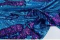 Двусторонние пайетки-голограмма на масле, голубой-фуксия