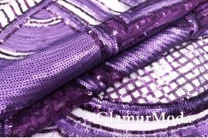 Крупные пайетки Полосы и узоры фиолетового цвета