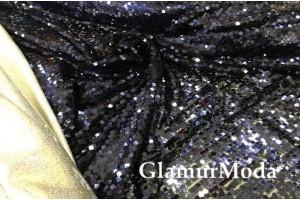 Пайетки темно-синего цвета квадраты