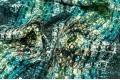 Вискоза Pinar, рисунок кожа змеи на зелёном