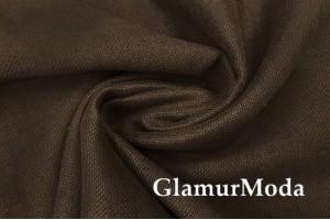 Портьерный Канвас тёмно-коричневого цвета 300 см
