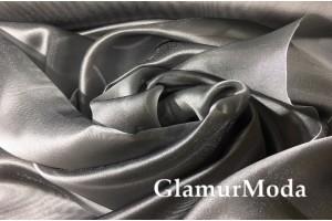 Креп Органза с утяжелителем цвета серый графит шириной 290 см