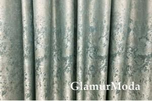 Портьерная ткань (купон 300 см), бирюзовое сияние