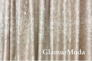 Портьерная ткань (купон 300 см), бежевое сияние