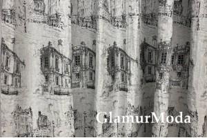 Портьерная ткань (купон), город