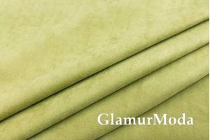 Портьерная Замша 300 см, бледно оливкового цвета, арт. 27175, Турция