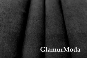 Портьерная Замша 300 см, чёрного цвета, Турция