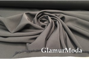 Костюмная ткань Пикачу темно-серого цвета