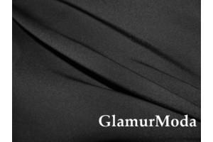 Костюмная ткань Пикачу черного цвета