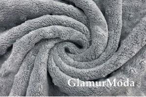Плюш минки цвет серый, 165 см, Турция
