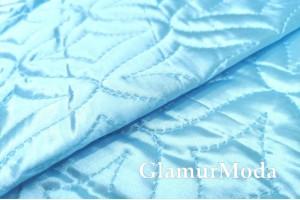 Подкладка дублированная синтепоном бирюзово-голубого цвета