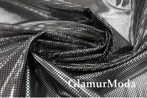 """Подкладочная ткань """"Omni-Heat"""" фольгированная, цвет черный"""