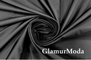 Ткань подкладочная матовая черного цвета, Италия, арт. 7392/8