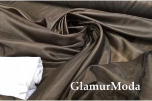 Ткань подкладочная нейлон, темно-коричневый цвет