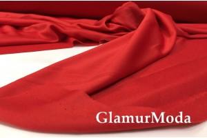 Подкладочная трикотажная ткань красного цвета