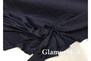 Подкладочная трикотажная ткань тёмно-синего цвета