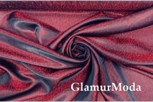 Подкладочная ткань с вискозой красного цвета