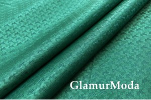 Подкладочная ткань с вискозой изумрудного цвета