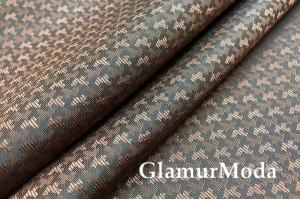 Подкладочная ткань с вискозой темно-коричневого цвета