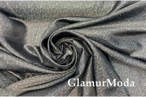 Подкладочная ткань с вискозой цвета серый графит