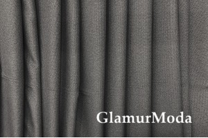 Ткань Блэкаут лен цвет серый (35)