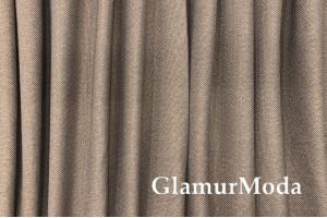Ткань Блэкаут лен цвет капучино (42)
