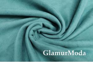 Портьерный Канвас сине-бирюзового цвета, 300 см