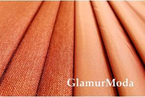 Димаут портьерный двухсторонний, 300 см, Турция тёмно-оранжевый цвет