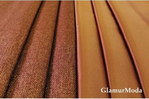 Димаут портьерный двухсторонний, 300 см, Турция терракотовый цвет