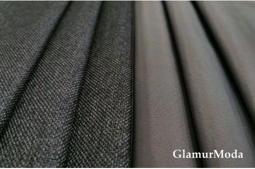 Димаут портьерный двухсторонний, 300 см, Турция цвет серый графит
